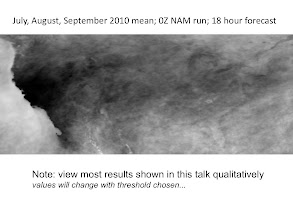 Photo: NAM 18hr cloudiness forecasts averaged for 3 mos.