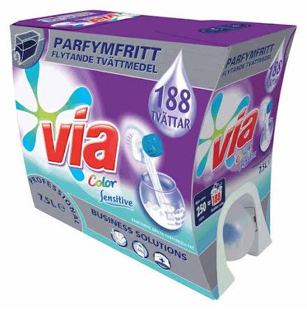 Tvättmedel Via Prof. Flytande Color Sensitive
