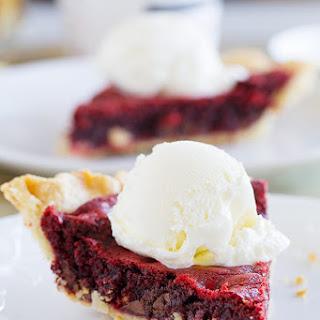 Red Velvet Cookie Pie