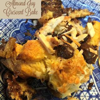Almond Joy Crescent Bake