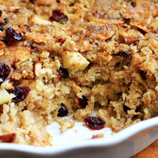 Baked Brown-Sugar, Apple & Cranberry Oatmeal.