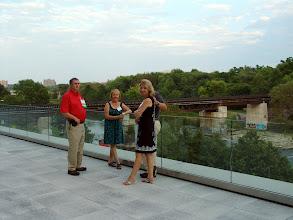 Photo: On the patio, Darryl & Francine Boyce, Tamara & Eckhard Groll