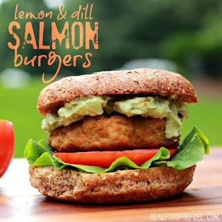 Lemon & Dill Salmon Burgers