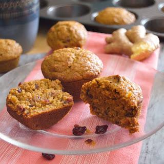 Cranberry-Ginger Pumpkin Muffins