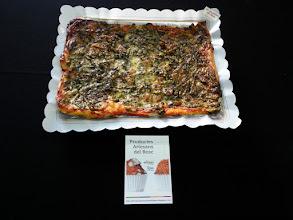 Photo: Pizza de l'hort (espinacs, ceba, mongetes tendres, carabassó, pastanaga, barreja de bolets, formatge ratllat i orenga)