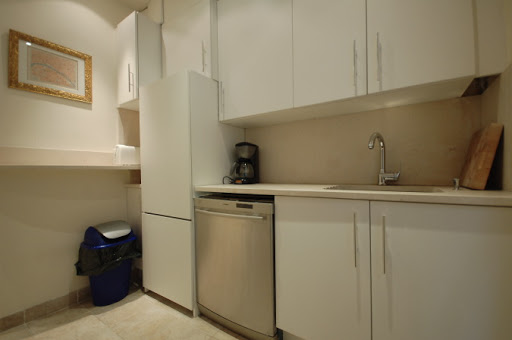 Basic kitchenette at Rue Jean du Bellay Apartments