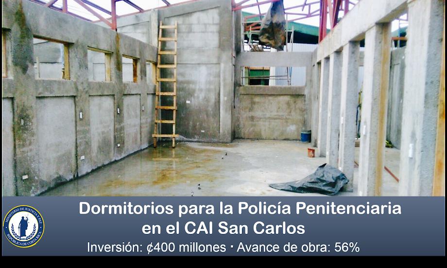 POLICÍAS PENITENCIARIOS TENDRÁN DORMITORIOS NUEVOS EN EL CAI SAN CARLOS