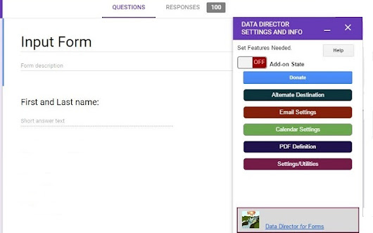 Data Director Beta - Google Forms add-on