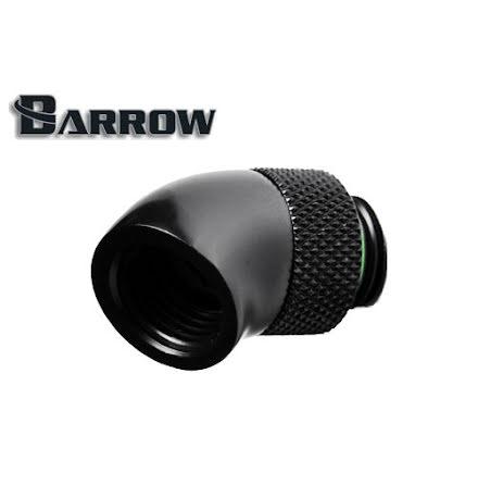 """Barrow svivel, 45°, 1/4""""BSPx1/4""""BSP, Black"""