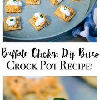 Crock Pot Buffalo Chicken Dip Bites.