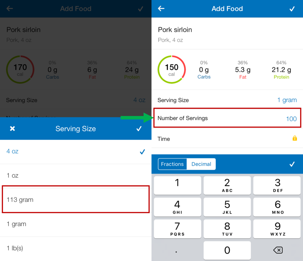 track food on myfitnesspal using scale 4
