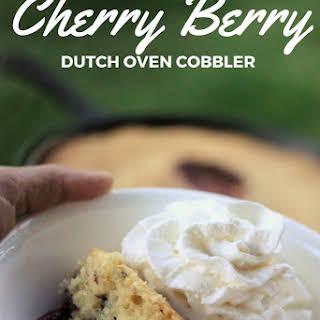 Cherry Berry Dutch Oven Cobbler.
