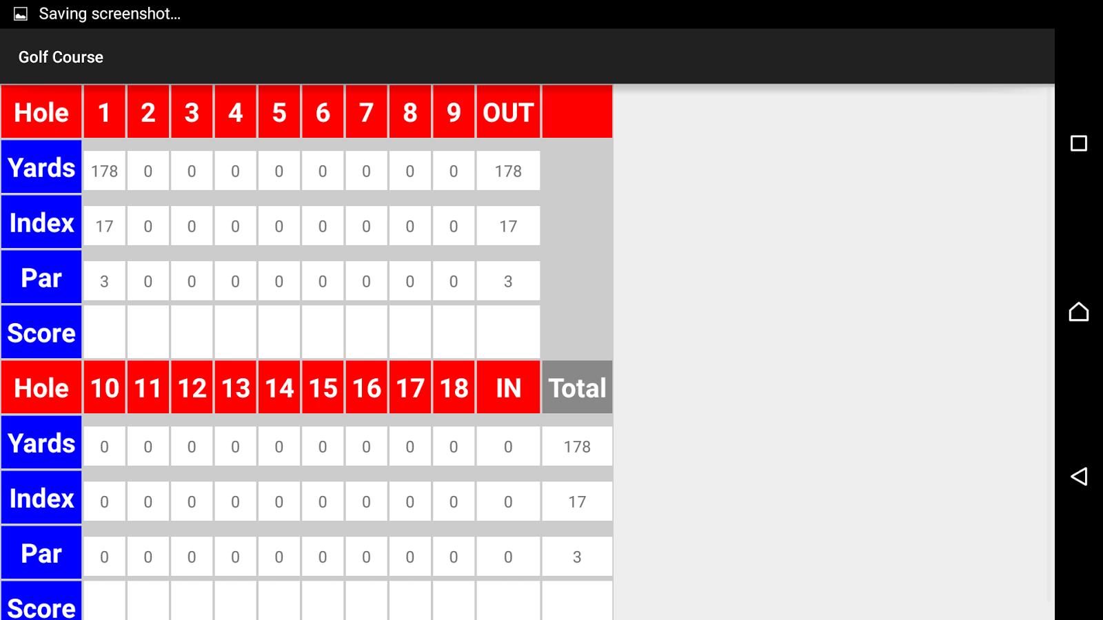 Golf scorecard android apps on google play golf scorecard screenshot pronofoot35fo Images