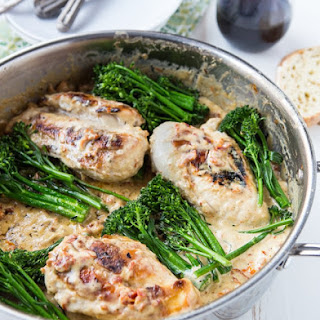 Creamy Skillet Chicken with Sun-dried Tomatoes.