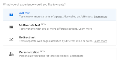 Optimize experience types screenshot