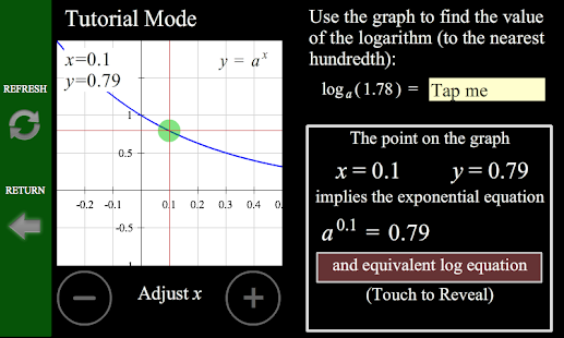 Logarithm/Exponential Tutor- screenshot thumbnail