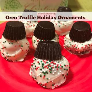 Oreo Truffle Holiday Ornaments Recipe