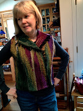 Photo: a return to weaving after 40 years student wove this and sewed it a month after she bought her saori loom