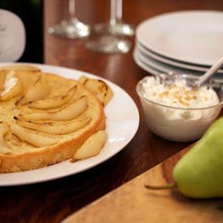 Hazelnut Tea Cake with Moscato Pears