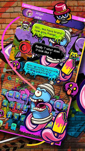 Street Graffiti SMS Keyboard 10001006 screenshots 2
