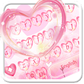 Cute Pink Heart keyboard Theme