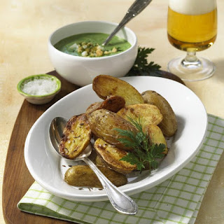 Baked Potatoes with Frankfurt Green Sauce