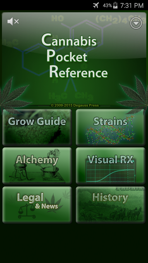Cannabis Pocket Reference- screenshot
