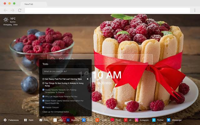 Cake Recipes New Tab HD Popular Foods Themes
