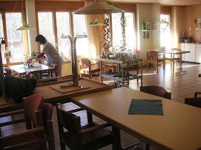 Photo: Die Cafeteria im Provisorium!