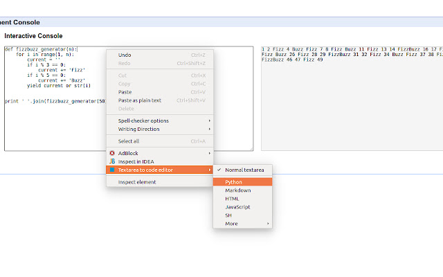 textarea to code editor