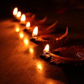 by Saurabh Anand - Uncategorized All Uncategorized ( #diwali, #festival, #diya, #indian, #rows,  )
