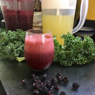 Raspberry Kale Lemonade Slushie Recipe