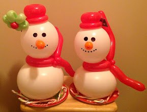 Photo: Snowlady and Snowman with treats