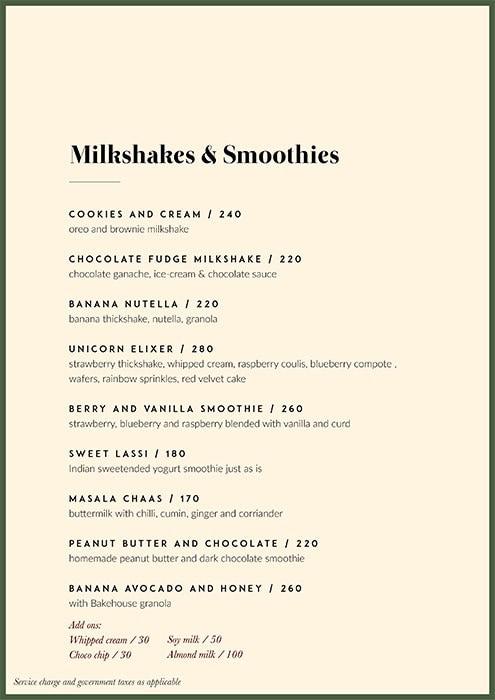 Green Theory menu 9
