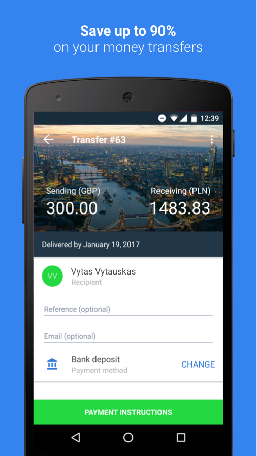 TransferGo Money Transfer- screenshot