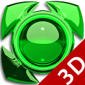Next Launcher Theme glas green icon