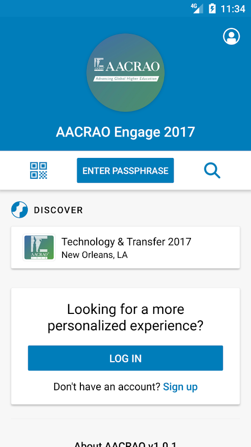 AACRAO Engage 2017- screenshot