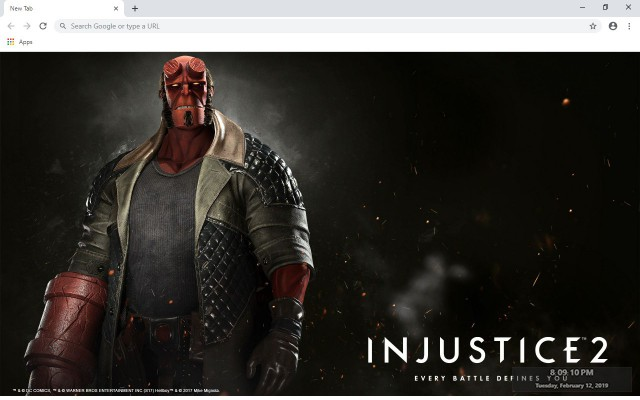 Injustice 2 New Tab & Wallpapers Collection
