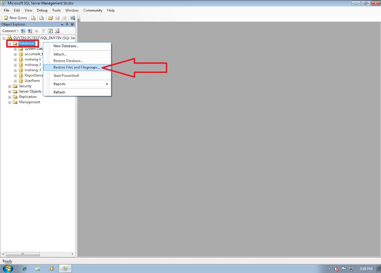 Hướng Dẫn Backup Và Restore Databases Gerber Accumark Trong SQL Server 20
