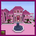 Pink Princess House Map for MCPE icon