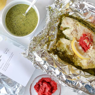 Tilapia and Pesto Foil Packets
