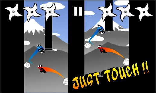 Jumping Ninja Two player- screenshot thumbnail