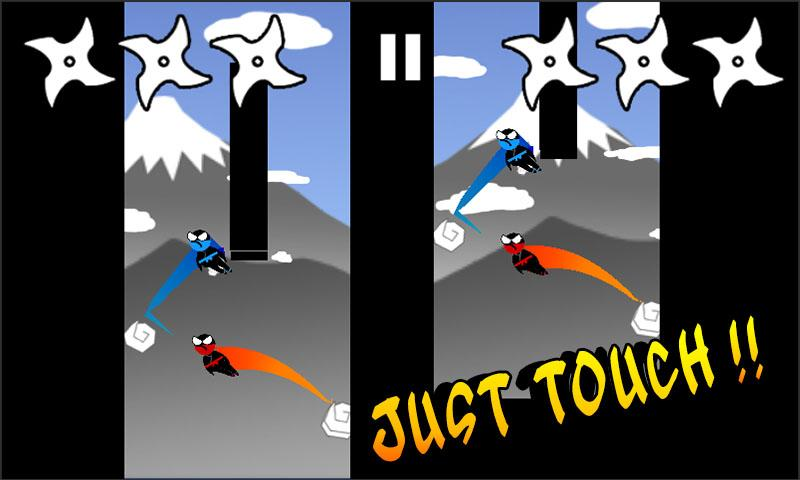 Jumping Ninja Two player- screenshot