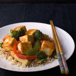 Sweet and Spicy Asian Tofu.