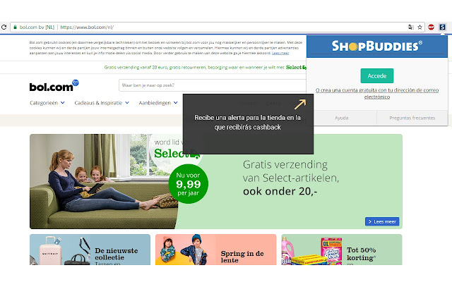 Shopbuddies.es - Alertas de Cashback