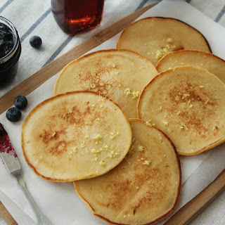 Lemon Cottage Cheese Pancakes