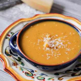 Pumpkin Soup with White Beans and Sage