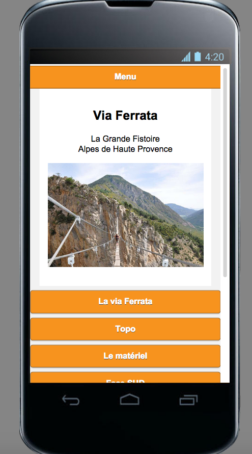 Via Ferrata- screenshot