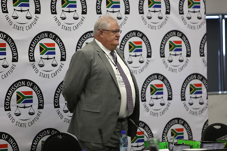 Former Bosasa chief operating officer Angelo Agrizzi takes the stand at the state capture inquiry on January 22 2019. Picture: ALON SKUY
