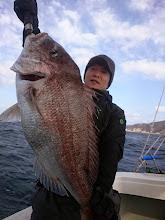 Photo: おおおおーっ!BIG真鯛キャッチです! 6.5kgありましたー! ナイスフィッシュ!